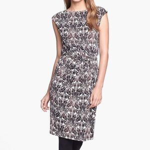 Tory Burch Sz XL 100% Silk Odila Sheath Dress EUC